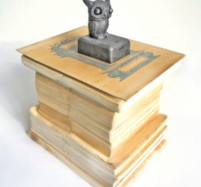 of-the-athenean-owl-ii-antique-books-graphite-sculpture-handprinted-cover-30x50x20cm-fafece609be944ceba61938158b7dce4